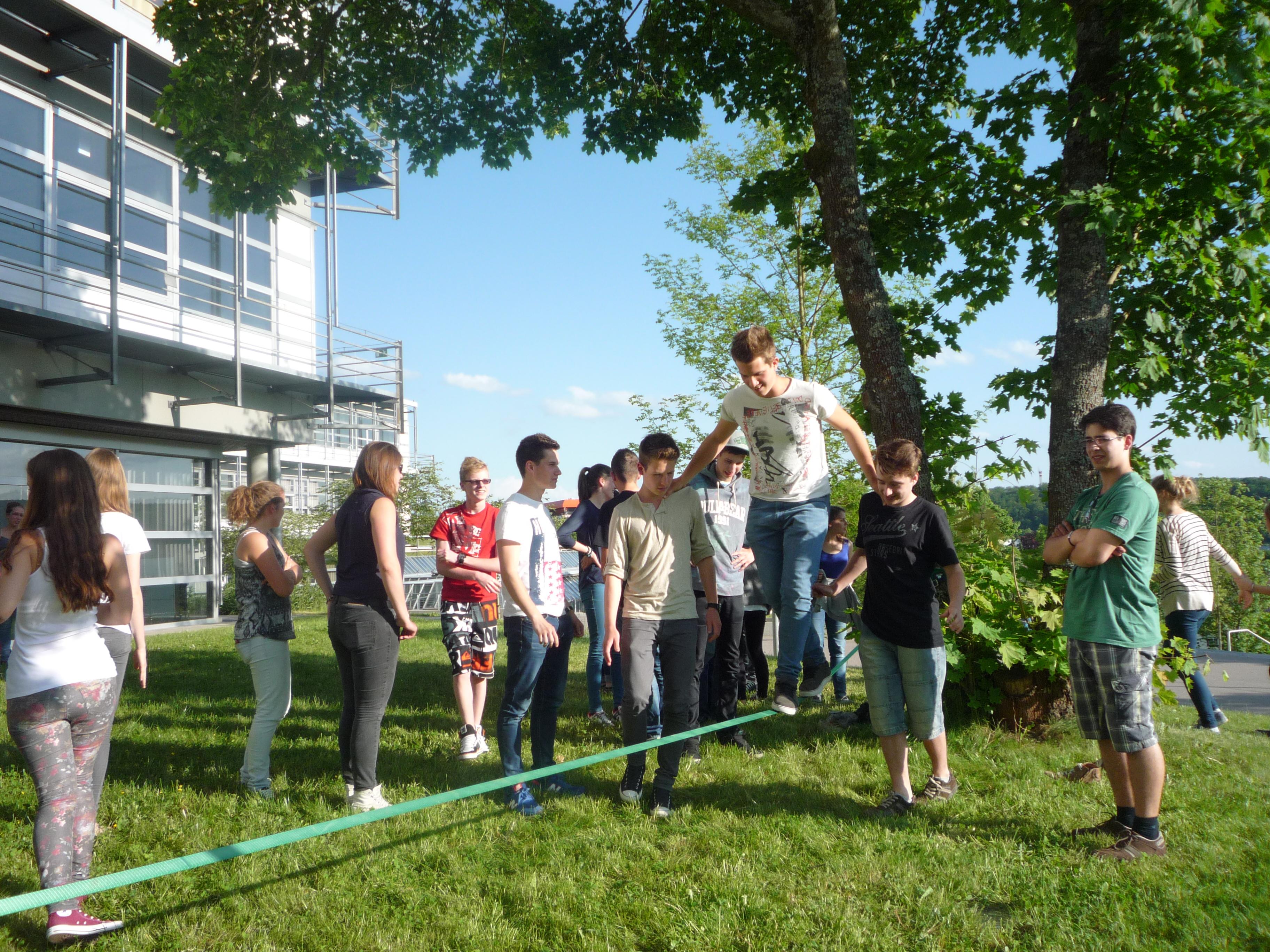 Besuch ungarischer Gastschüler am WG im Mai 2014
