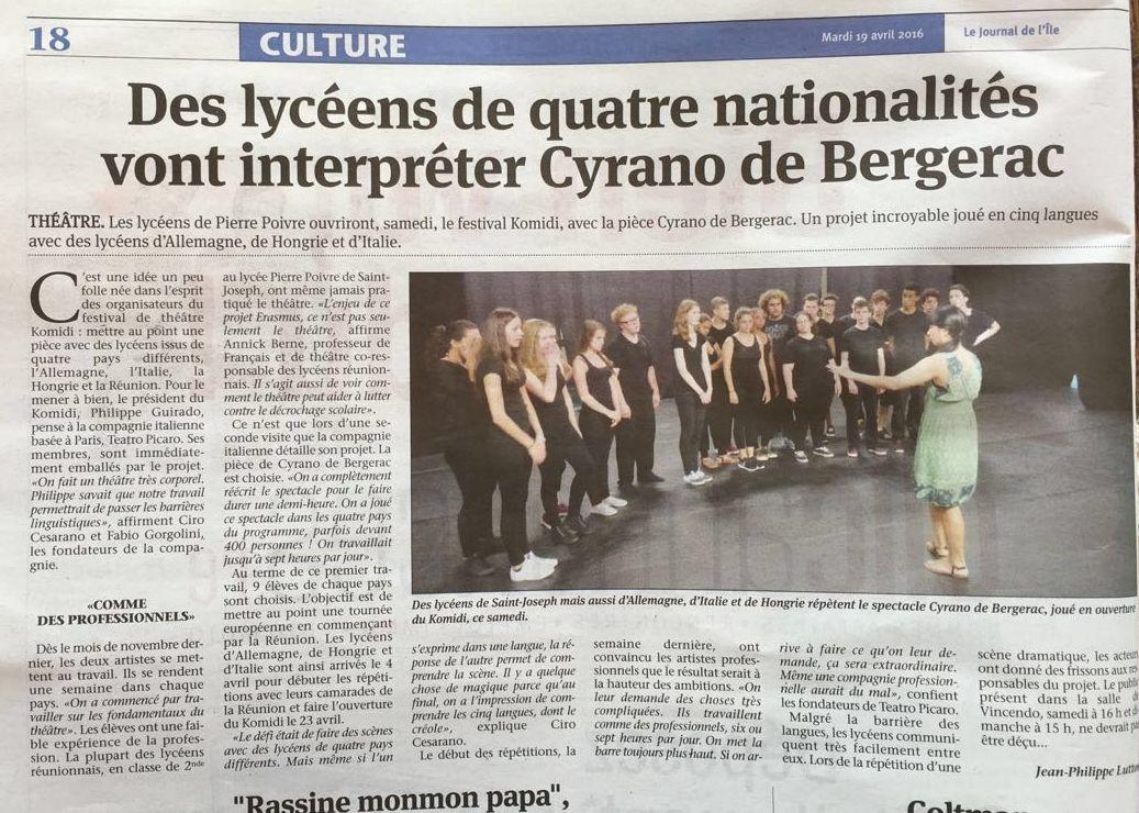 19.04.16 Theatergruppe auf Arbeitstreffen auf Reunion