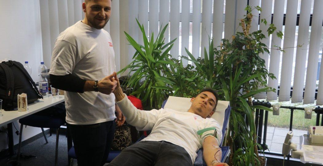 19.12.2017: Gutes tun vor Weihnachten an der KSH: Die SMV organisierte zum 3. Mal eine Blutspendenaktion