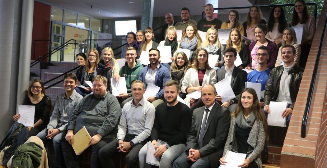 Abschlussfeier der Berufsschulprüfung Herbst 2018